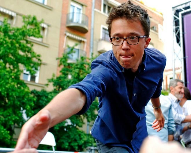 Íñigo Errejón en un acto de Podemos el pasado 2 de mayo.