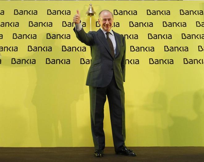 Rodrigo Rato, presidente de Bankia en 2011 y 2012, en día del estreno...