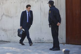 Javier López Madrid, a su llegada a la Audiencia Nacional en una de...
