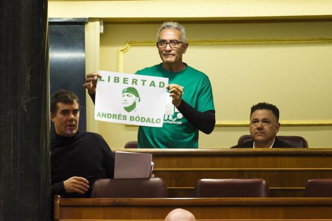 Diego Cañamero, en el Congreso el pasado febrero.