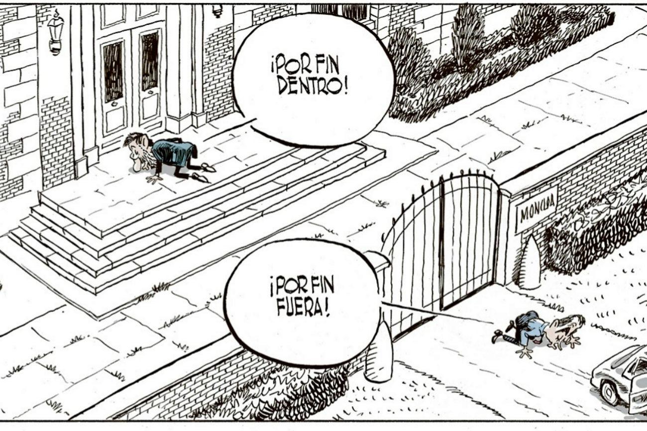 La viñeta refleja el cambio de Gobierno tras las elecciones de...