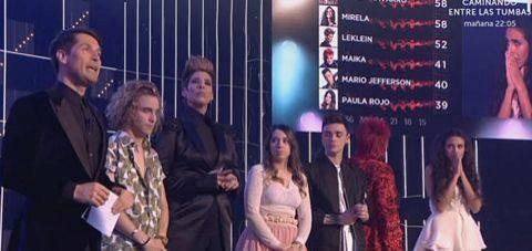 Momento de las votaciones en la gala 'Objetivo Eurovisión' de TVE, el...
