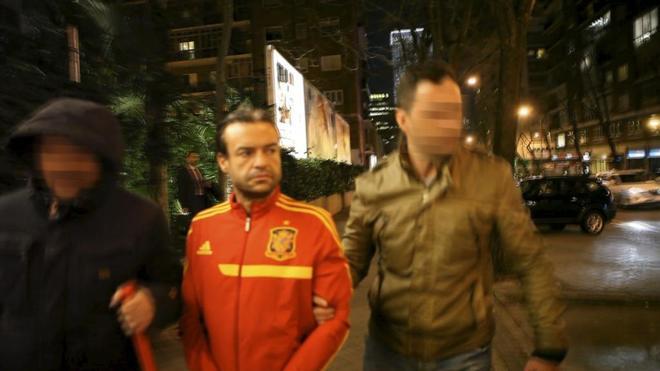 José Luis Aneri, al ser detenido por la Policía en febrero de 2014.