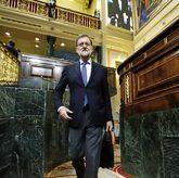 El presidente del Gobierno, Mariano Rajoy, entrando en el Hemiciclo...