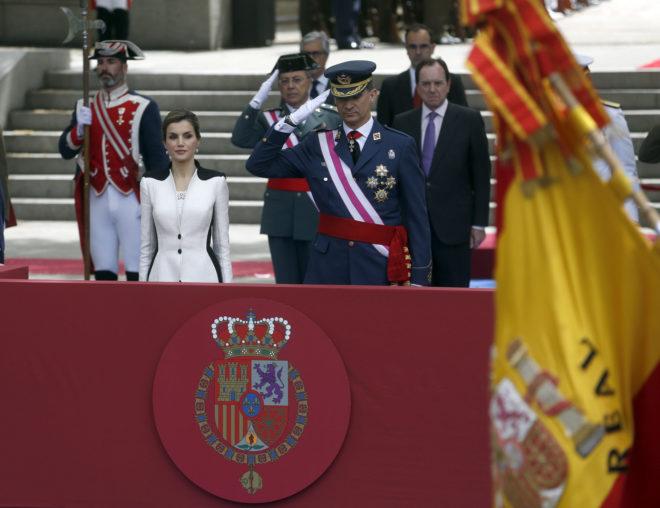 Los Reyes, durante el Día de las Fuerzas Armadas en 2016.