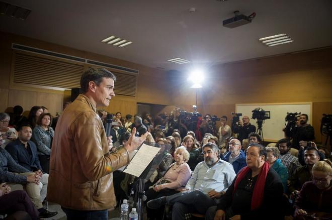 """Pedro Sánchez, durante su intervención en un acto """"Por la Diversidad..."""