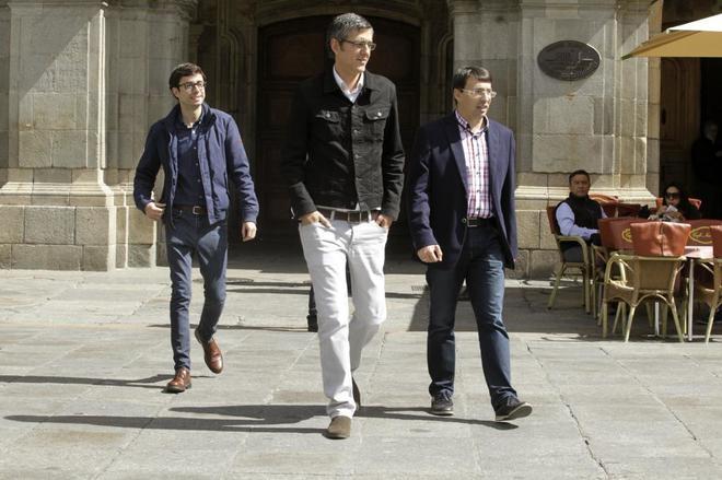 Eduardo Madina, hoy en Salamanca, donde ha participado en un acto de...