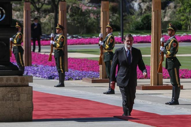 Mariano Rajoy, a su llegada al foro económico celebrado en Pekín.