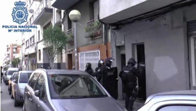 Detención de un presunto yihadista en Badalona, a principios de este mes.