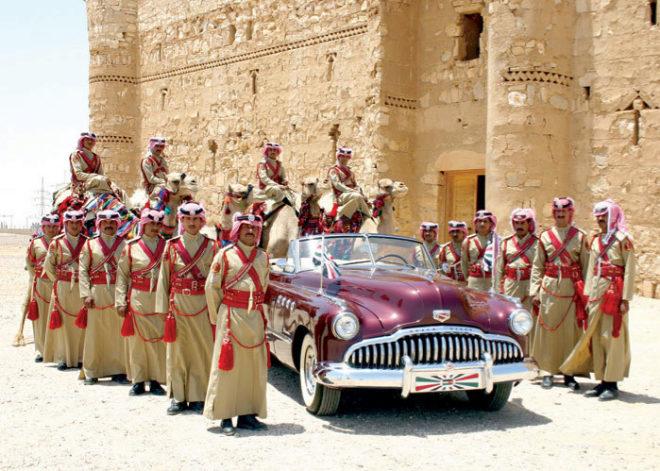 Cadillac Type 75 de 1956, regalo del presidente estadounidense Eisenhower al rey Husein. Fue el primer coche blindado usado en Jordania.