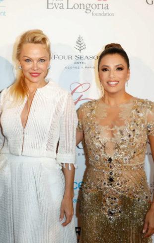 Pamela Anderson y Eva Longoria, con María Bravo, en la Gala Global...