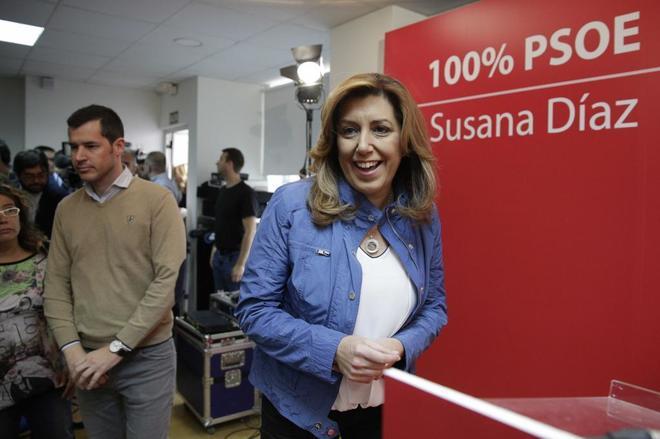 """Susana Díaz durante la presentación del documento """"Propuestas para..."""