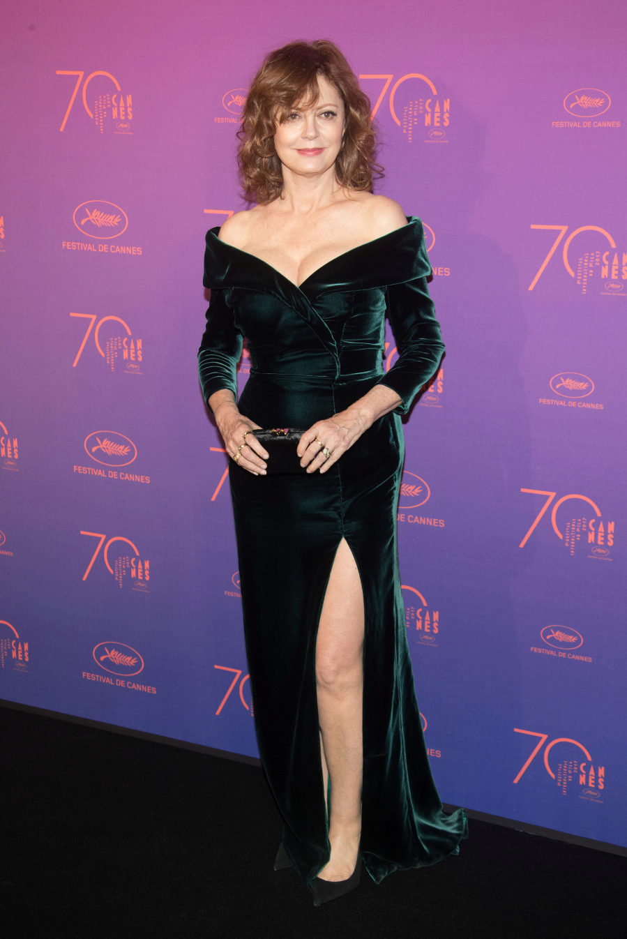 Susan Sarandon, espectacular, con un vestido de Alberta Ferretti de...