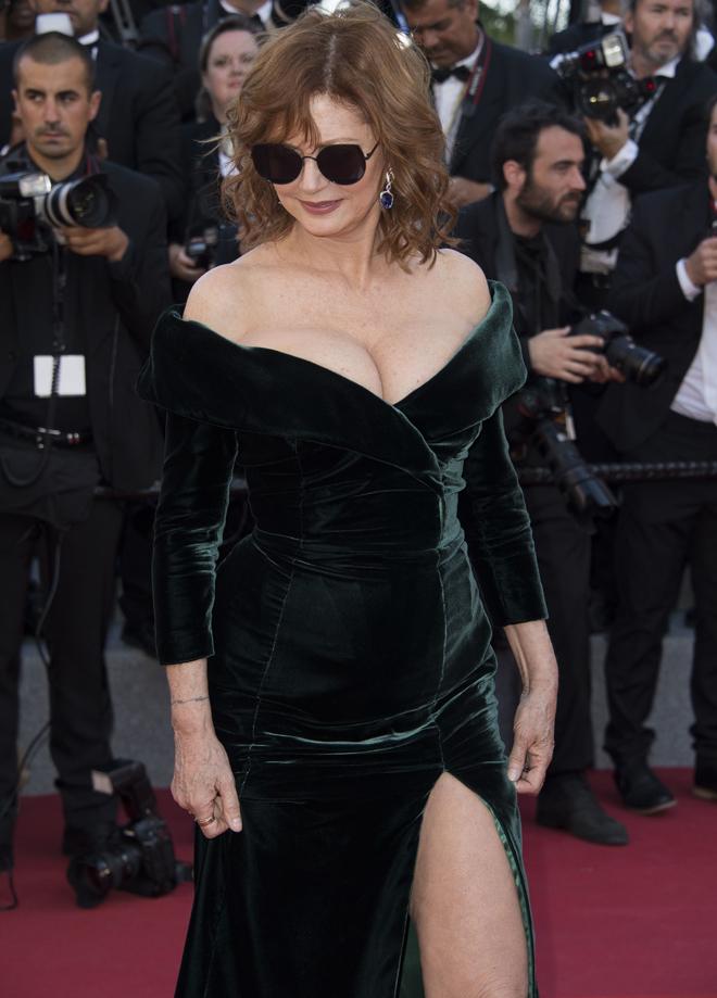 Susan Sarandon, espectacular en la alfombra roja de Cannes.
