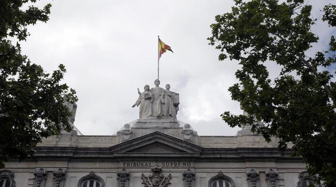 Vista de la fachada del Tribunal Supremo en Madrid.