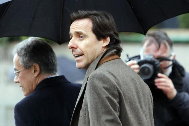 Javier López Madrid llega a declarar a la Audiencia Nacional en febrero de 2016.