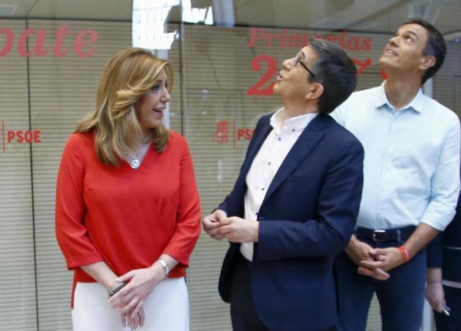 Los candidatos a la Secretaría General del PSOE, Susana Díaz, Patxi...