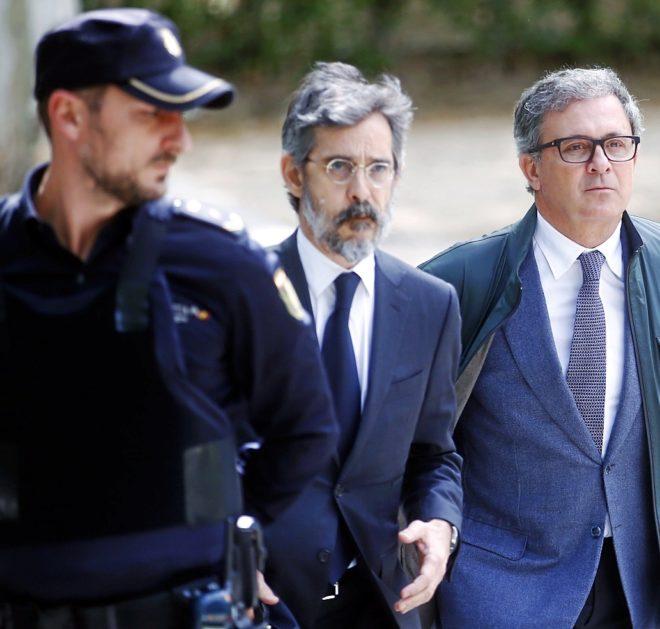 Jordi Pujol Ferrusola acudiendo a declarar a la Audiencia Nacional el...