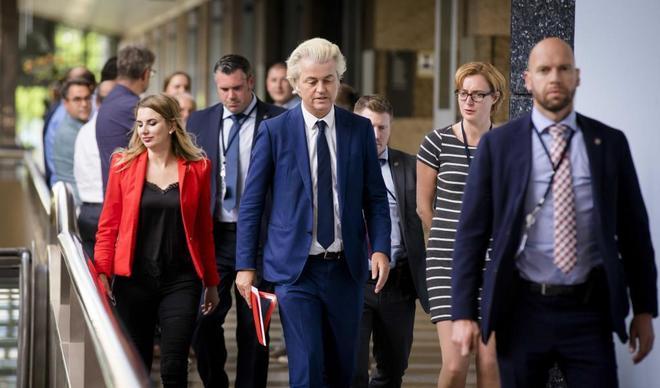 El secretario general del Partido de la Libertad, Geert Wilders, en La Haya (Holanda).