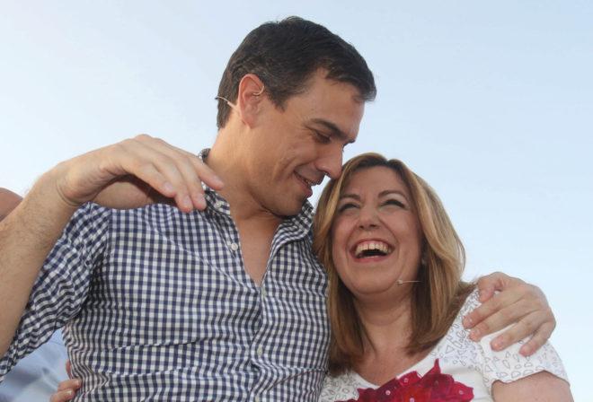 Pedro Sánchez y Susana Díaz, en un acto en Sevilla en junio de 2016.