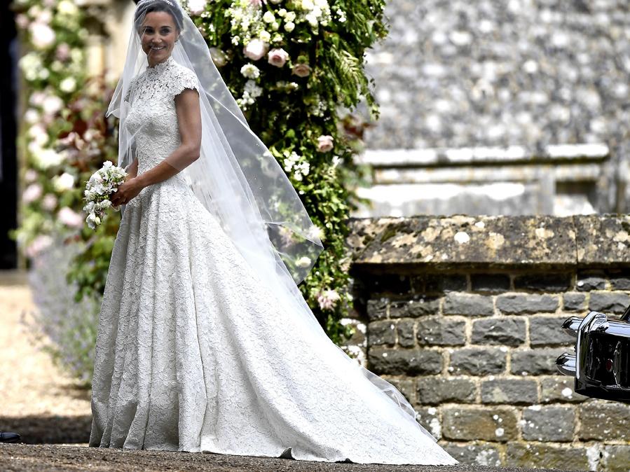 Había mucha expectación con el vestido de la novia. Finalmente se ha...
