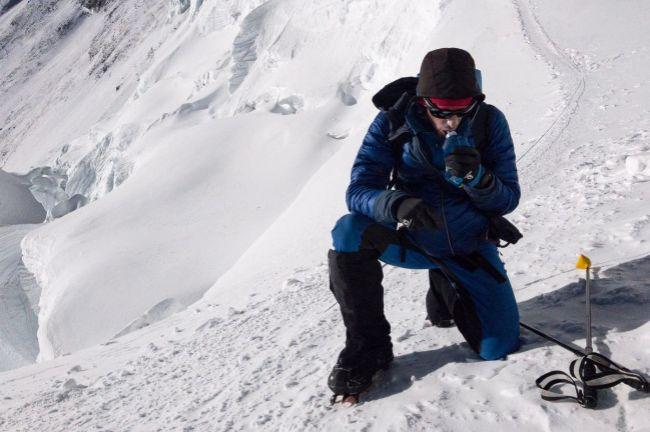 Kilian Jornet, en su ascenso al Everest.