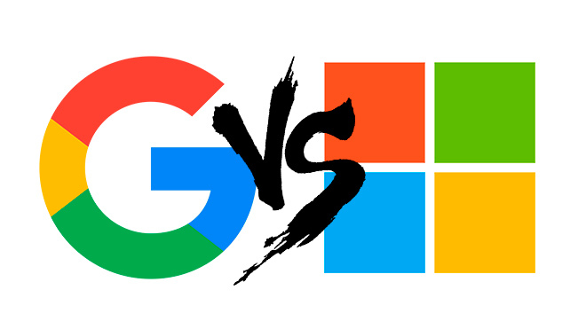 Microsoft vs. Google, la enemistad que se desarrolla a toda velocidad