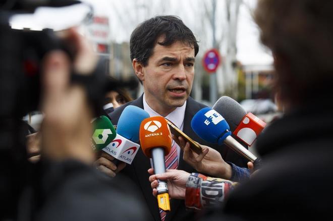 Andrés Herzog da unas declaraciones en la Audiencia Nacional de San Fernando de Henares.