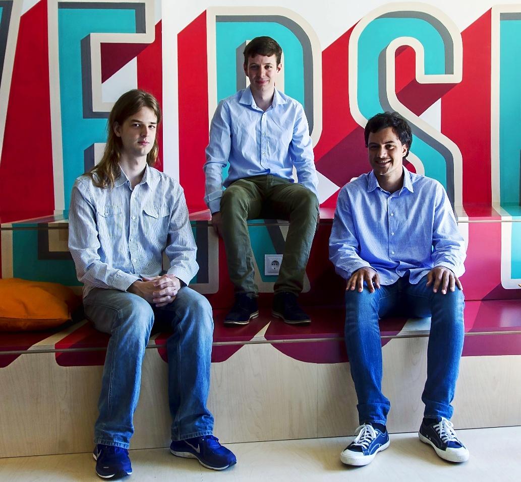 Dario Nieuwenhuis, Borja Rossell y Álex Lopera, cofundadores de Verse.