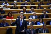 Mariano Rajoy, durante su intervención en la sesión de control en el...