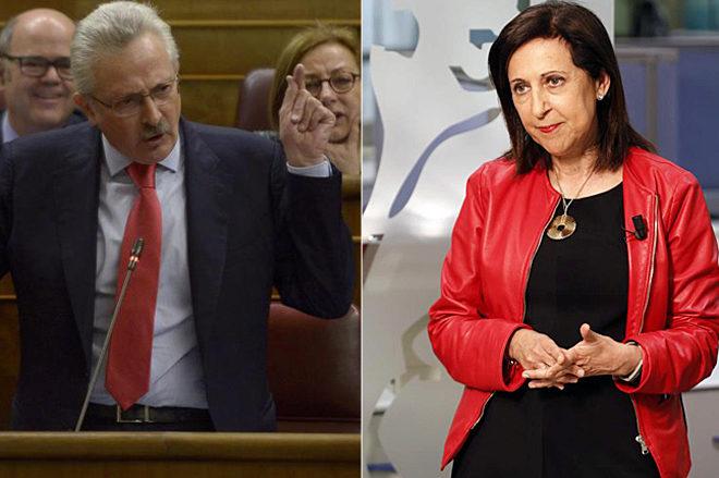 Antonio Trevín y Margarita Robles, en el Congreso de los Diputados.