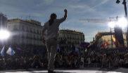Pablo Iglesias interviene en la Puerta del Sol de Madrid en la...