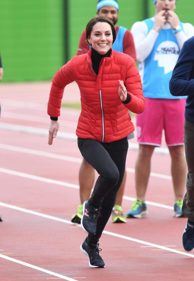 Kate Middleton de Inglaterra, toda una 'runner'.