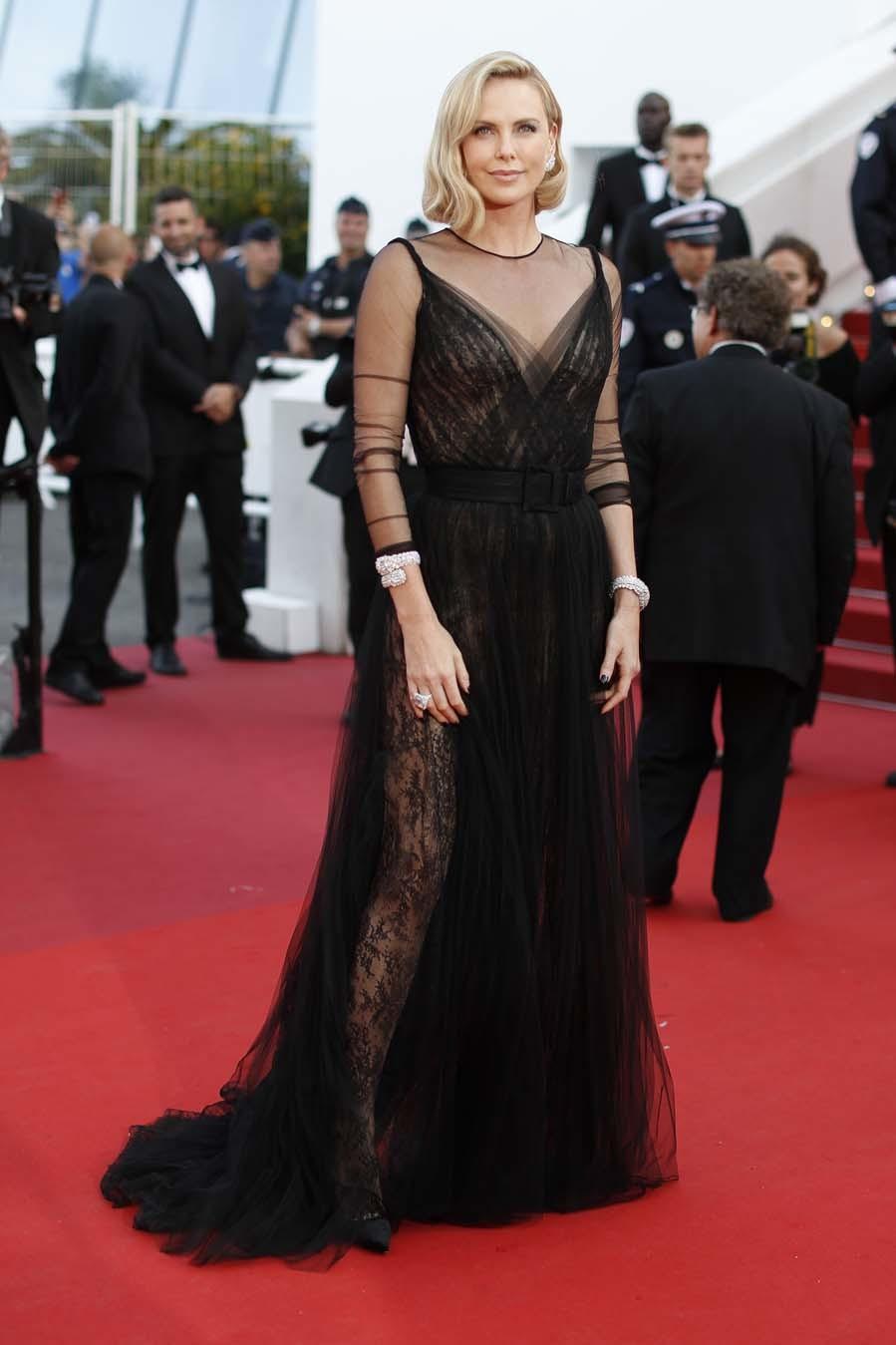 Charlize Theron en la celebración del 70 aniversario de Cannes