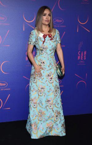 Salma Hayek, en la fiesta del 70 Aniversario del Festival de Cannes