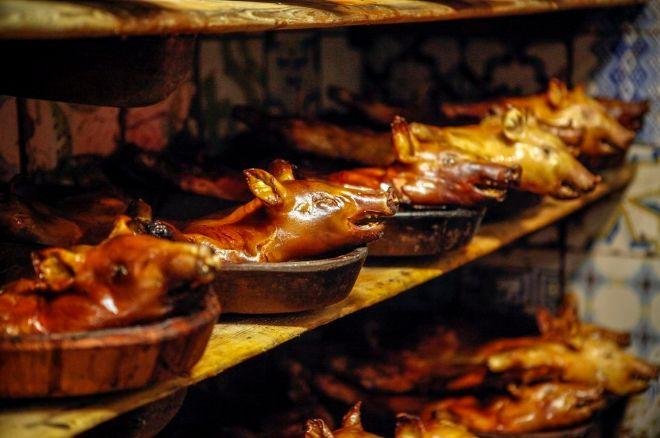 Cochinillos en restaurante Botín