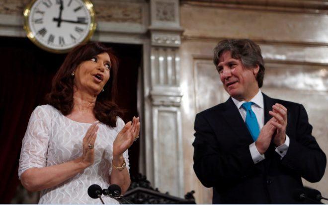 Cristina Fernández de Kirchner y Amado Boudou, en 2014.