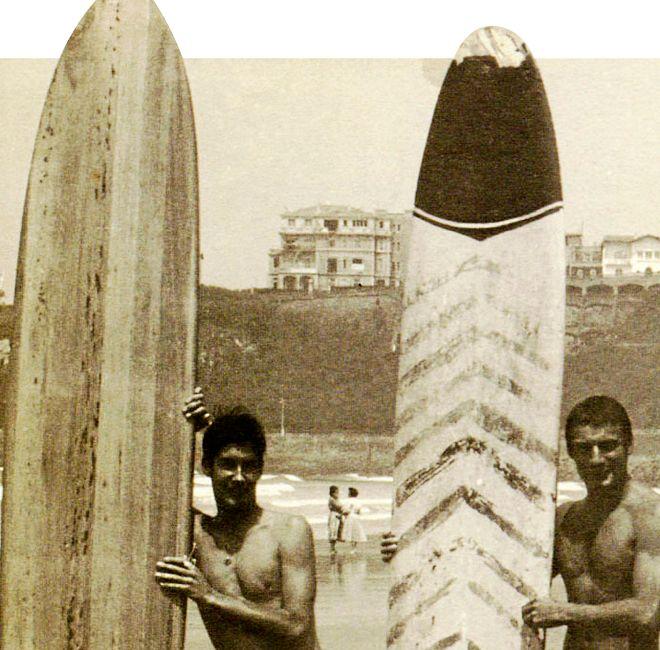 Dick Zanuck (derecha) y su amigo Peter Viertel disfrutaron de las...