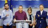El portavoz de Compromís, Joan Baldoví, comparece el jueves en el...