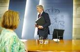 Íñigo Méndez de Vigo, en la rueda de prensa tras el Consejo de...