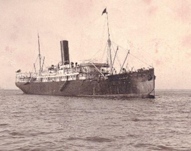 El vapor Carlos Eizaguirre que naufragó en 1917.