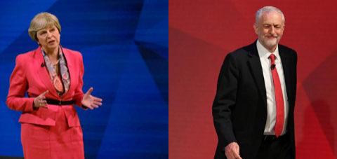 May y Corbyn entran en el cuerpo a cuerpo a 10 días de las elecciones