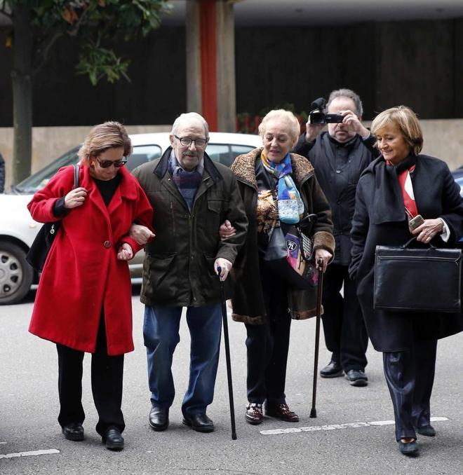 José Ángel Fernández Villa, a su llegada en marzo al juzgado para declarar por el Soma.