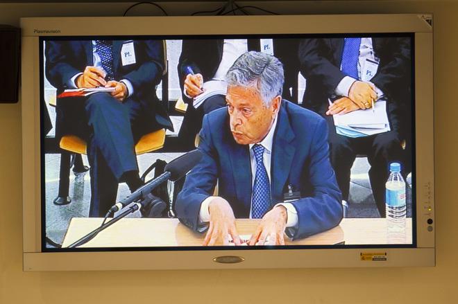 El ex presidente de la CAM, Miguel Crespo, en su declaración en la...