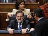 El presidente del Gobierno, Mariano Rajoy, durante la última jornada...