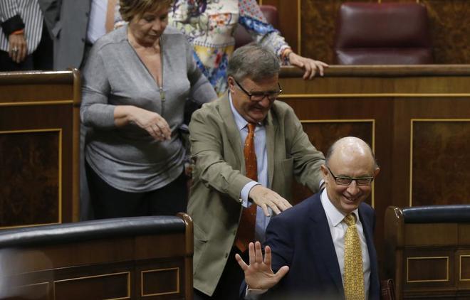 El ministro de Hacienda, Cristóbal Montoro, este miércoles en el...