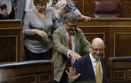 El ministro de Hacienda, Cristóbal Montoro, este miércoles en el Congreso.