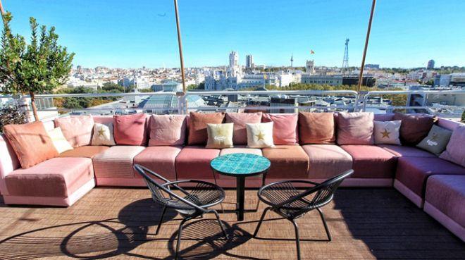 Restaurantes con terrazas de hoteles y en las alturas de for Restaurantes con terraza madrid