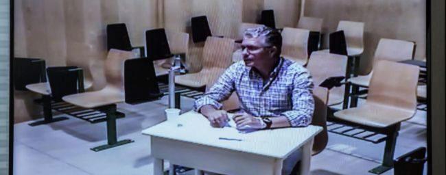 Francisco Granados declarando a traves de videoconferencia desde la...