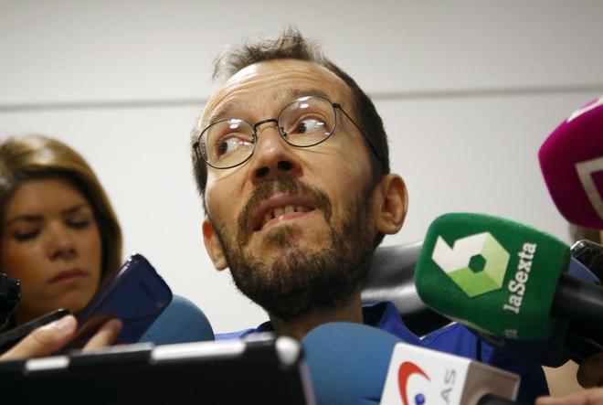 Pablo Echenique, tras la reunión del Consejo Ciudadano Estatal de...